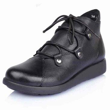 ブーツ レザーシューズ 革靴 ショートブーツ レディース カジュアル 春 夏 秋 冬 長め 黒 長靴 ワークブーツ e cm shs-458 【予約商品】