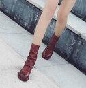 ブーツ カジュアル ショートブーツ 革靴 レザーシューズ レディース ...