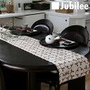 テーブルランナー 北欧 ビンテージクローバー Jubilee 英国デザイン 183×30 ハンドメイド 麻 リネン 撥水 新生活 新居 引越し祝い 新築 子供 家 おうち 在宅 おしゃれ