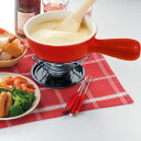 チーズフォンデュセット レッド(固形燃料用) 2