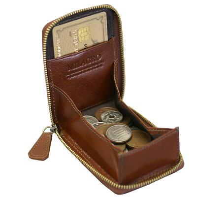コインケースカードケースオイルドレザーイタリアンレザーミラグロ