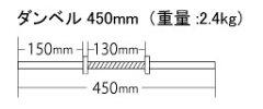 【激安価格】【送料無料】ダンベルシャフト450ミリ スクリューカラー2個付【ダンベル・トレーニ...