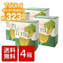 箱ワイン 送料無料 白ワイン [ラ ティエラ 白 3L 4個セット]La Tierra White 3000ml x 4個 バッグインボックス BIB たっぷり大容量 白ワイン チリ 箱 BOX WINE 葡萄酒送料込