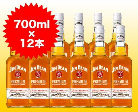 ジムビーム プレミアム バーボン ウイスキー 700ml×12本 ケース 12本...