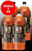 【送料無料 4本セット】ブラックニッカ クリア 4000ml×4本 ケース [4本入り] ブレンデッド ウイスキー ニッカウイスキー 正規品 4000ml 37% 4L 4LBLACK NIKKA CLEAR BLENDED WHISKY 4000ml 37%