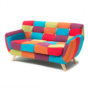 2人掛けソファー2人用ソファー二人掛けソファー二人用ソファーそふぁーラブソファーコンパクトソファー布張り製ポップ145cm幅幅145cm