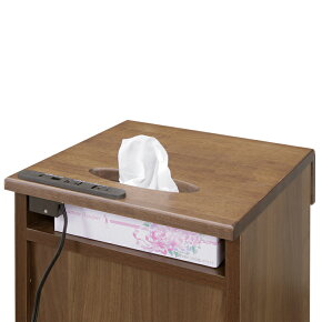 サイドテーブル幅35cmキャスター付き国産品日本製木製モダン風