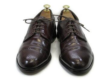 BOSTONIAN (ボストニアン)9 M / (26.5cm〜27.0cm) アメリカ製・ストレートチップ送料無料 メンズシューズ 紳士 靴 中古 ビジネス カジュアル メンテナンス済