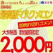 ちょっと訳あり静岡産最高級マスクメロン