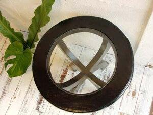 【送料無料】CAラウンドガラステーブル【donkoi送料無料】