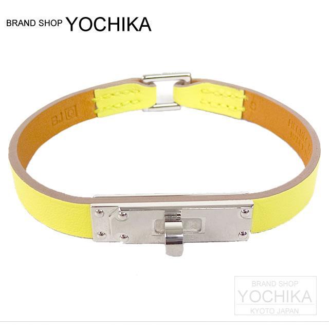 HERMES Hermes microkerry bracelet S swift souffle silver metal brand new (HERMES Bracelet Micro Kelly Suure S) yochiua