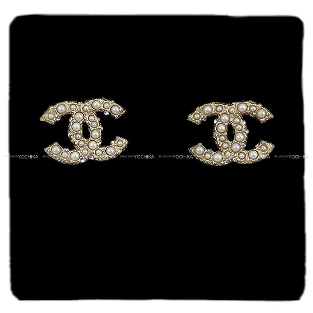 レディースジュエリー・アクセサリー, ピアス CHANEL A64766 (CHANEL COCO Mark Fake Pearl Pierces Gold A64766 New)