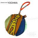 """HERMES エルメス バッグチャーム オーナメント """"petit h/プティアッシュ - セルクル(丸型)"""" カリー×ブルーマルテ シルク100% 新品 (HERMES bag charm Ornament """"petit h - Cercle"""" Curry/Bleu de Malte Silk100%[Brand new][Authentic])【あす楽対応】#yochika"""