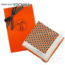 """【値下げ!】【自分へのご褒美に★】HERMES エルメス スカーフ カレ70 """"2トーンドット"""" オレンジ系 シルク100% 新品未使用 (HERMES Scarf Carre 70 """"2tone dot"""" Orange Silk100% [Never used][Authentic])【あす楽対応】【楽ギフ_包装】#yochika"""
