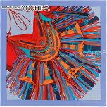 "2015ǯ���߿���HERMES��������140��������""����γ���2""��٥����X�����X�֥롼���륯100%����(2015AWNEWHERMESCarre140Scarf""CuirduDesert2""Lavande/Orange/Blue)�ڤ������б���#yochika"