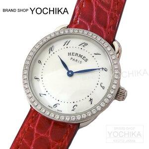 HERMES エルメス レディース 腕時計 アルソー PM AR5.230a ダイヤベゼル ブレイズ アリゲーター...