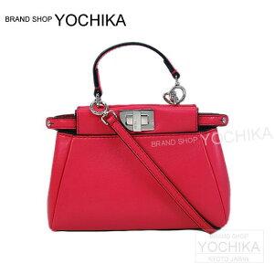 """【自分へのご褒美に!】FENDI フェンディ 2way ショルダー バッグ """"マイクロ ピーカブー"""" フューシャピンク 8M0355 新品未使用【中古】 (FENDI 2way bag """"Micro PeekaBoo"""" Fuchsia Pink [Never Used])【あす楽対応】【楽ギフ_包装】#yochika"""