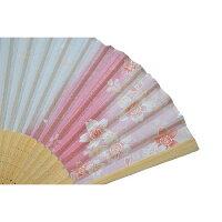 扇子ぼかし桜紫シルク100%【京都】母の日父の日誕生日ギフト結婚祝い