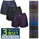 【 Troy Bros 】トロイブロス トランクス タオルハンカチ セット メンズ パンツ 3枚 ランダム セット 下...