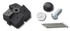 定形外で送料無料★光有孔ボードPBST-1石膏ボード用止め具セット黒1P(4ヶ所止入)対応穴:5φ-25Pパンチングボード用フック