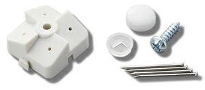 定形外で送料無料★光 有孔ボード  PBST-2 石膏ボード用 止め具セット白 1P(4ヶ所止入) 対応穴:5φ-25P 8φ-30P パンチングボード用止め具