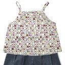 【和雑貨 和柄 ファッション 花柄 和風 和小物】ふわっとスカートとシュシュのセット♪子供服-...