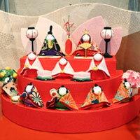 円形雛飾りが可愛くて上品♪【お雛様 雛飾り ひな飾り 雛人形 ひな祭り ひなまつり 初節句 置物...
