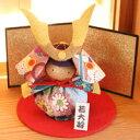 【五月人形 ちりめん兜飾り 端午の節句 ミニ コンパクト 平飾り かわいい 和雑貨 武者人形】か...