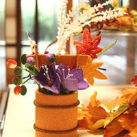 秋を象徴する紅葉や桔梗・・・【和雑貨 和風 和小物 ちりめん細工 置物 なごみ インテリア フク...