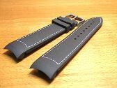 HAMILTON ハミルトン 時計ベルト バンド カーキ ETO用 ラバー 交換バンド 黒色 ブラック 21mm H600776100