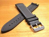 HAMILTONハミルトン時計ベルトバンドカーキETO用ラバー交換バンド黒色ブラック21mmH600776100