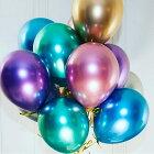 メタリックカラーゴム風船同色10個セットカラー風船無地12インチバルーンパーティーデコレーション誕生日飾りハロウィンクリスマスイベント飾りウェディングバルーン