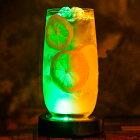 クラブ バー イベント パーティーグッズ LED コースター 丸型 本体カラー全2色 フラッシュモブ 発光 照明 輝く ハーバリウム用 ライト スタンド 照明 ライトアップ 演出 光るコースター 円形 LED台座 結婚式 披露宴 花材 ボトル シャンパン