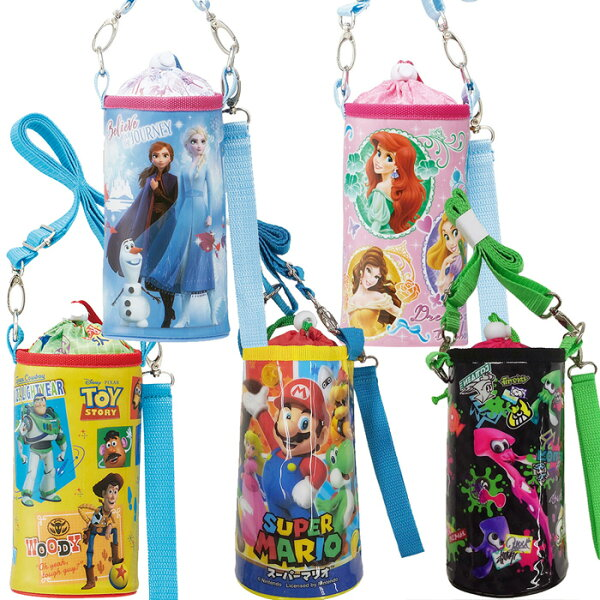 キャラクターエナメルペットボトルケースPVPC6ペットボトルカバー保温保冷ペットボトルホルダー収納ディズニーアナと雪の女王プ