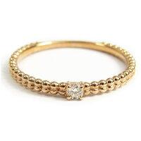 ダイヤモンド0.03ctピンクゴールド(K10PG)スマートリング(指輪)