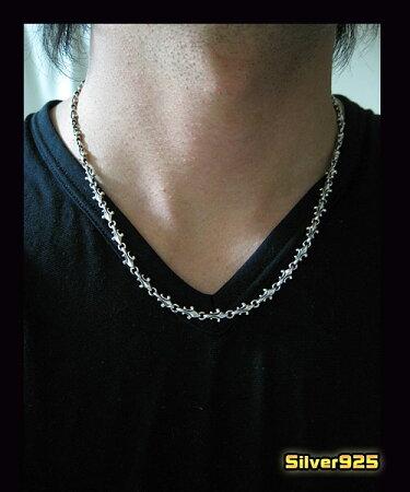 【DB】ユリのチェーン(1)50cm/4LILY【メイン】(新商品2012年5・6月分)シルバー925