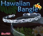 ハワイアンバングル シルバー シルバーバングル プルメリア レディース