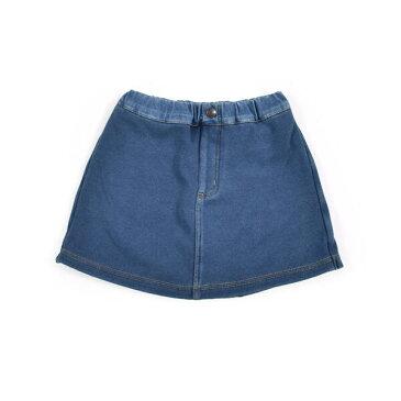 無地 チェリー 総柄 ボンディング デニム スカートパンツ (80cm〜130cm)/スラップスリップ