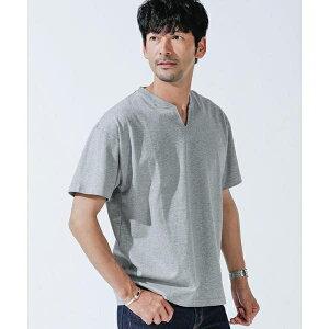 《WEB限定》VスリットリブネックTシャツ/ナノ・ユニバース