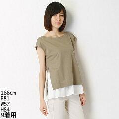 【SALE】シャツを重ね着したようなシンプルトップス60/−スーピマキュプラパールライトハイシ...