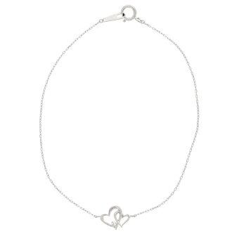 K10ホワイトゴールドダイヤモンドハートブレスレット/ブルーム(BLOOM)