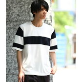 パネルラインTシャツ/ジュンレッド(JUNRed)