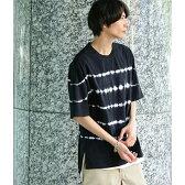 絞り染め半袖Tシャツ/ジュンレッド(JUNRed)