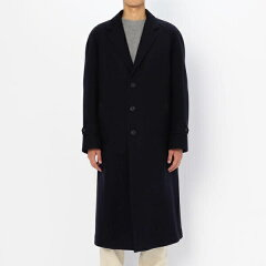 Scye Basics Wool Cashmere Melton Raglan Overcoat 5117-73504: Dark Navy
