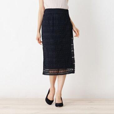 Lスカート(【洗える】レースペンシルタイトスカート)/オペークドットクリップ(OPAQUE.CLIP)