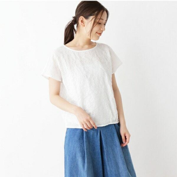Lブラウス(【裾タックデザイン】シアーサッカー ブラウス)/ピンクアドベ(pink adobe)