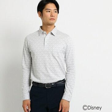 MTシャツ(【ミッキーマウス】 胸ポケット付き 長袖ポロシャツ メンズ)/アダバット(メンズ)(adabat(Mens))