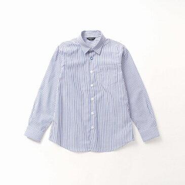 【洗える】イージーケア ロンドンストライプ 長袖シャツ(140〜160cmサイズ)/コムサイズムキッズ(COMME CA ISM)