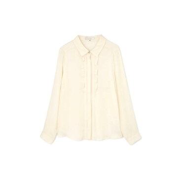 ◆大きいサイズ◆フロールサテンフリルシャツ◆/アリスバーリー(Lサイズ)(Aylesbury)