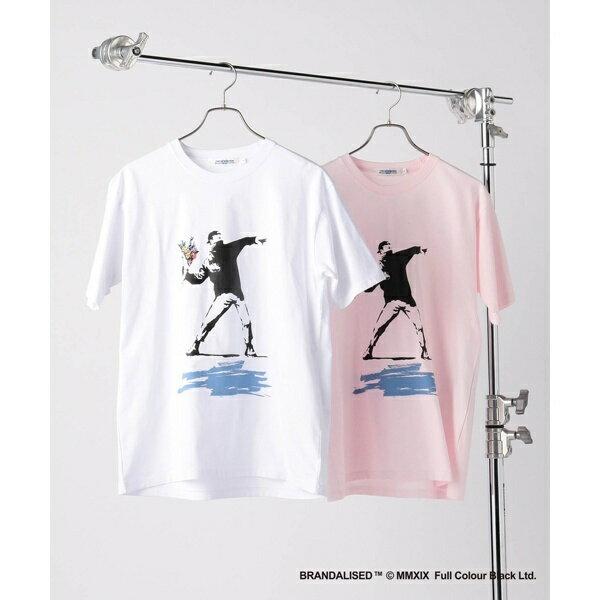 トップス, Tシャツ・カットソー BanksyFlower Bomberdesign TUNION STATION
